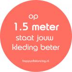 Corona Sticker Afstand Houden - Kleding 1.5 meter