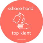Schone handen - desinfecteren - corona sticker